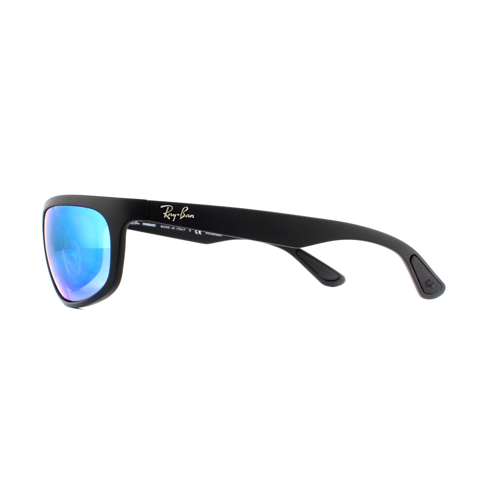 451f3e4bd3 Sentinel Ray-Ban Sunglasses RB4265 601SA1 Black Blue Mirror Chromance  Polarized