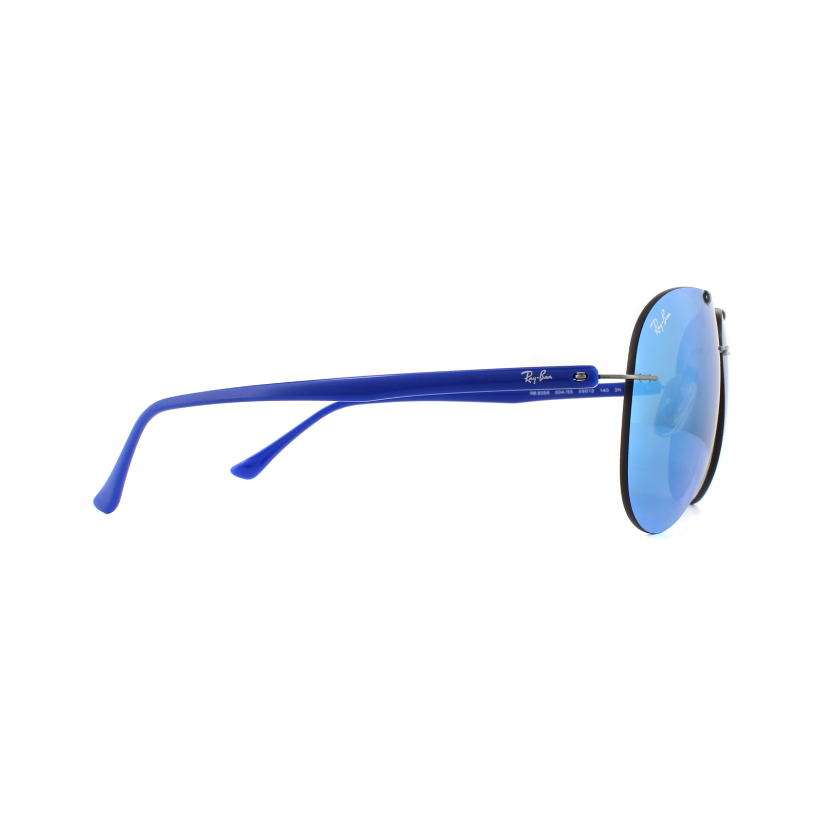 d1105e601c7 Ray-Ban Sunglasses 8058 004 55 Gunmetal Blue Mirror 8053672656367