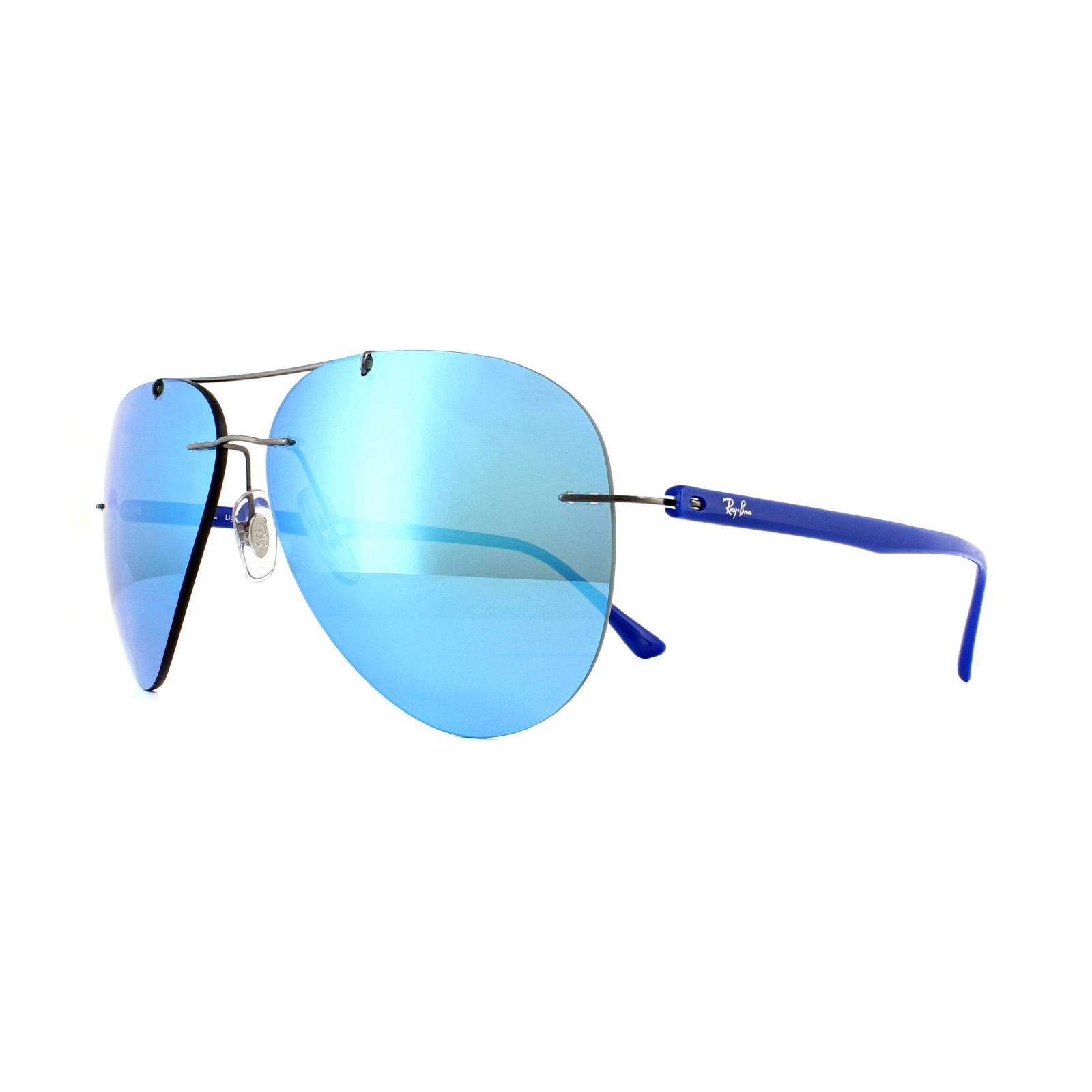 9cbc8933634 Sentinel Ray-Ban Sunglasses 8058 004 55 Gunmetal Blue Mirror. Sentinel  Thumbnail 4