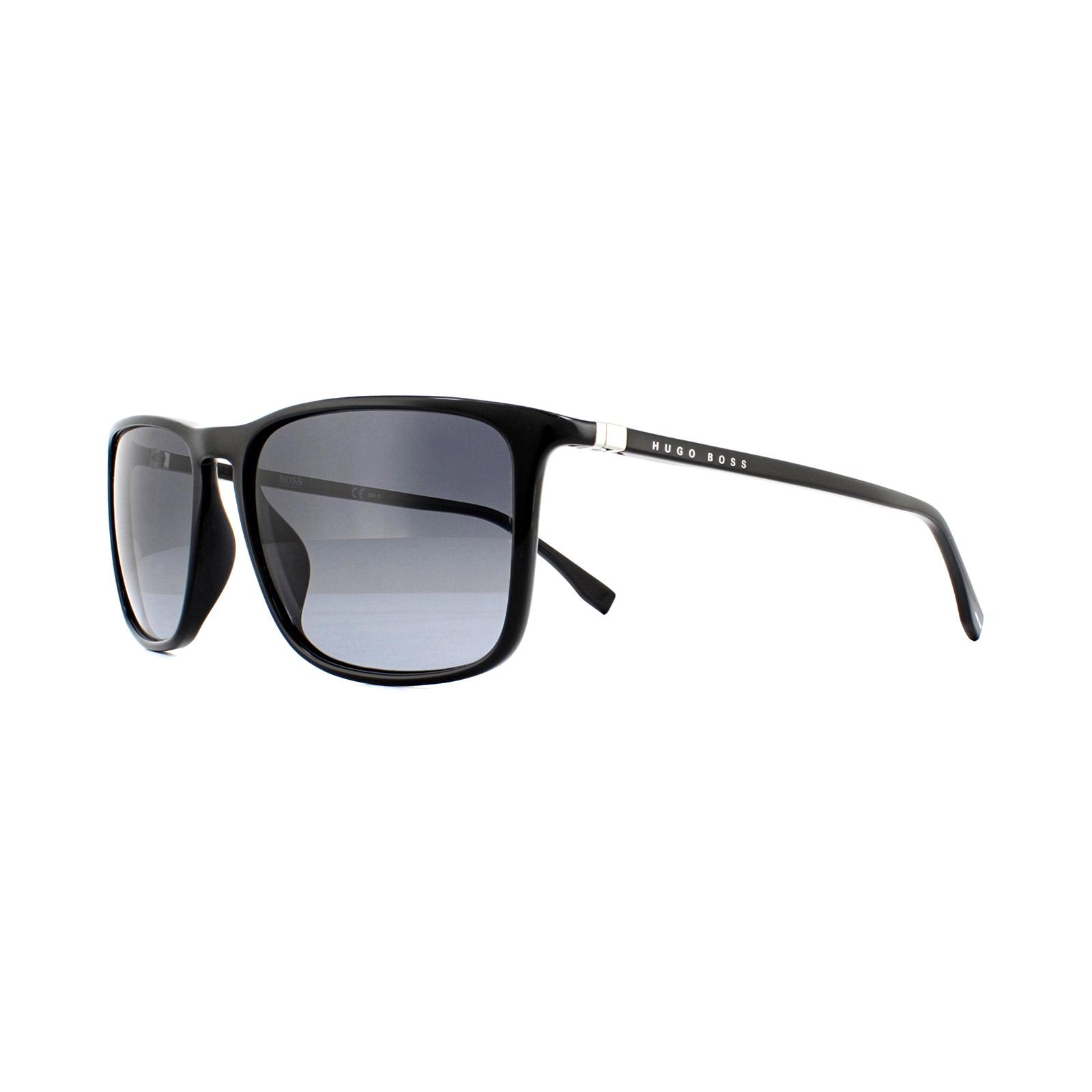 4e64233ea718a Sentinel Hugo Boss Sunglasses 0665 N S 807 9O Black Dark Grey Gradient