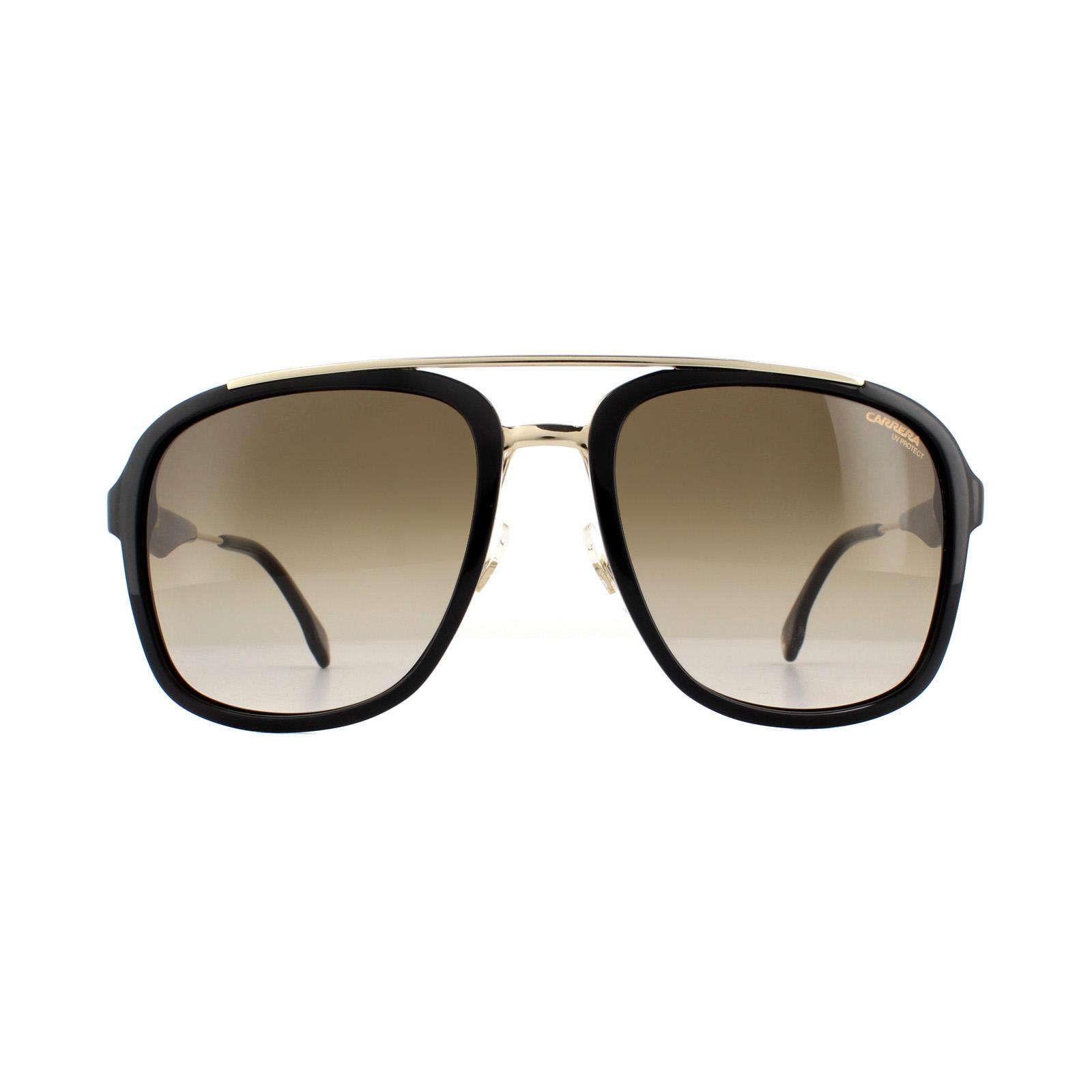 Carrera Sunglasses Carrera 133//S 2M2 HA Black Gold Brown Gradient