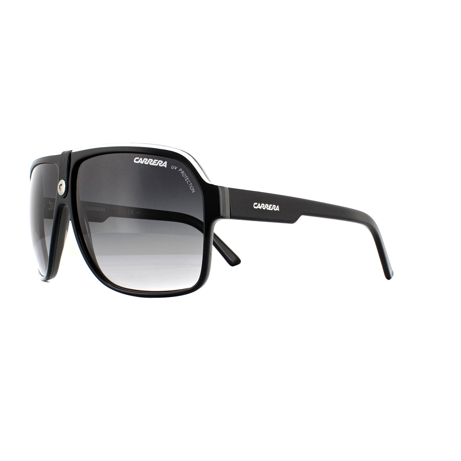 4c125f3d4d Carrera Gafas de Sol Carrera 33 8v6 9o Blanco y Negro Gris Degradado ...