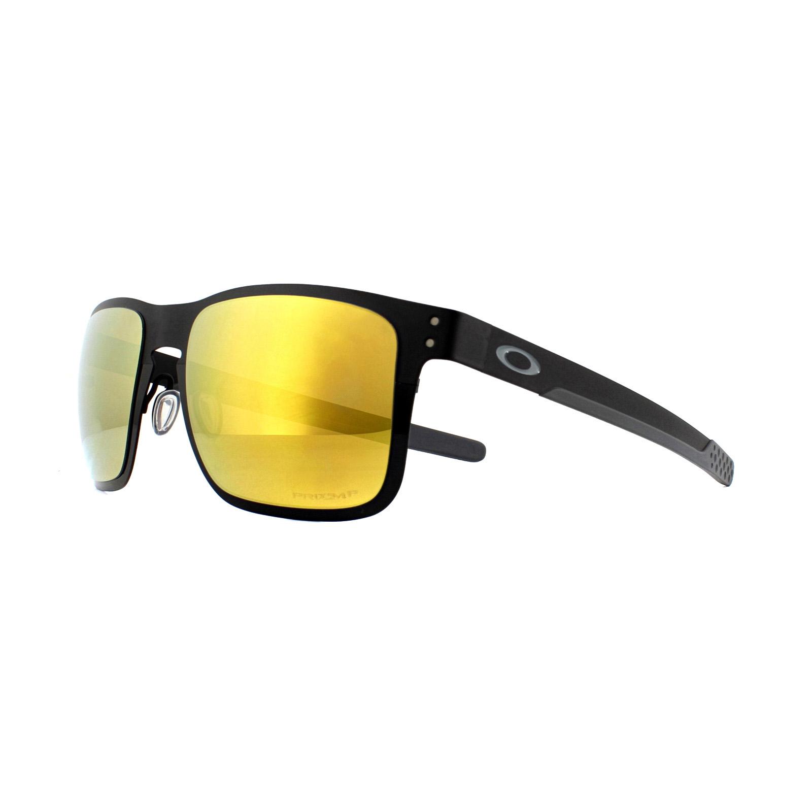 af7c58ceb1 Oakley Sunglasses Holbrook Metal OO4123-20 Polished Black Prizm 24K ...