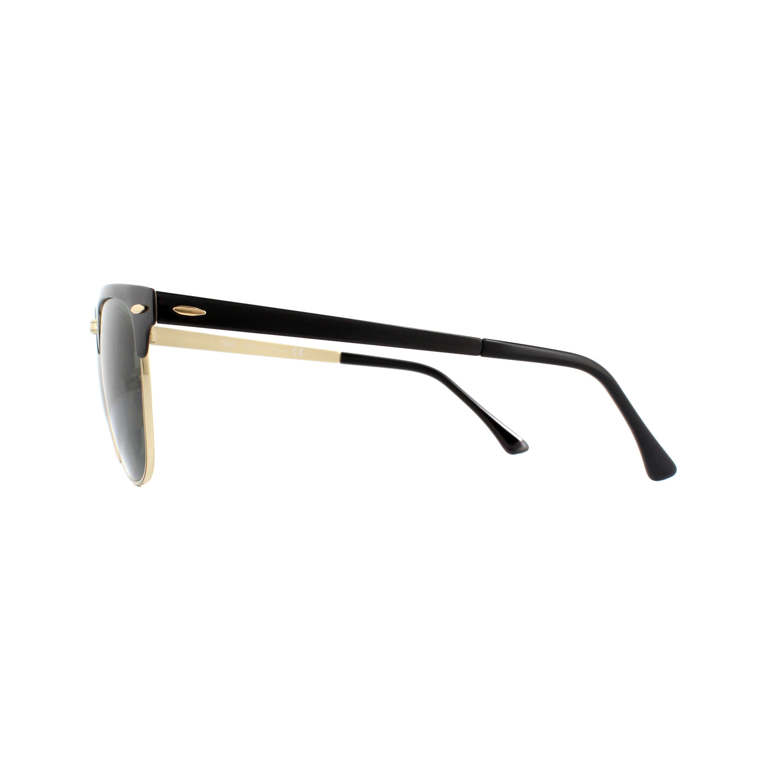 e848c2bc177 Sentinel Ray-Ban Sunglasses Clubmaster Metal RB3716 187 Gold Top On Black  Green