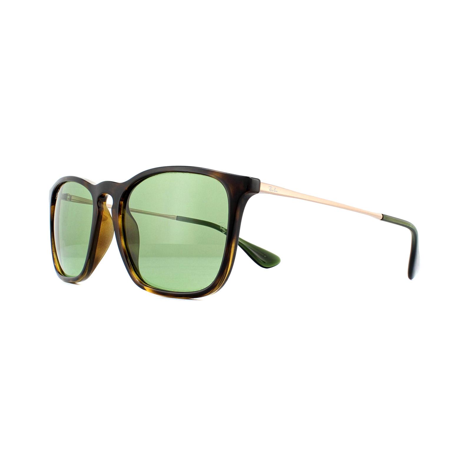 4d59638d27 Ray-Ban Sunglasses Chris 4187 6393 2 Havana Green 8053672977240