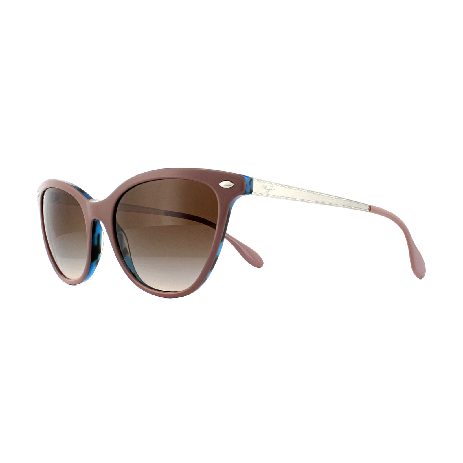 91f2023037796 Sentinel Ray-Ban Sunglasses RB4360 123513 Light Brown Havana Blue Brown  Gradient