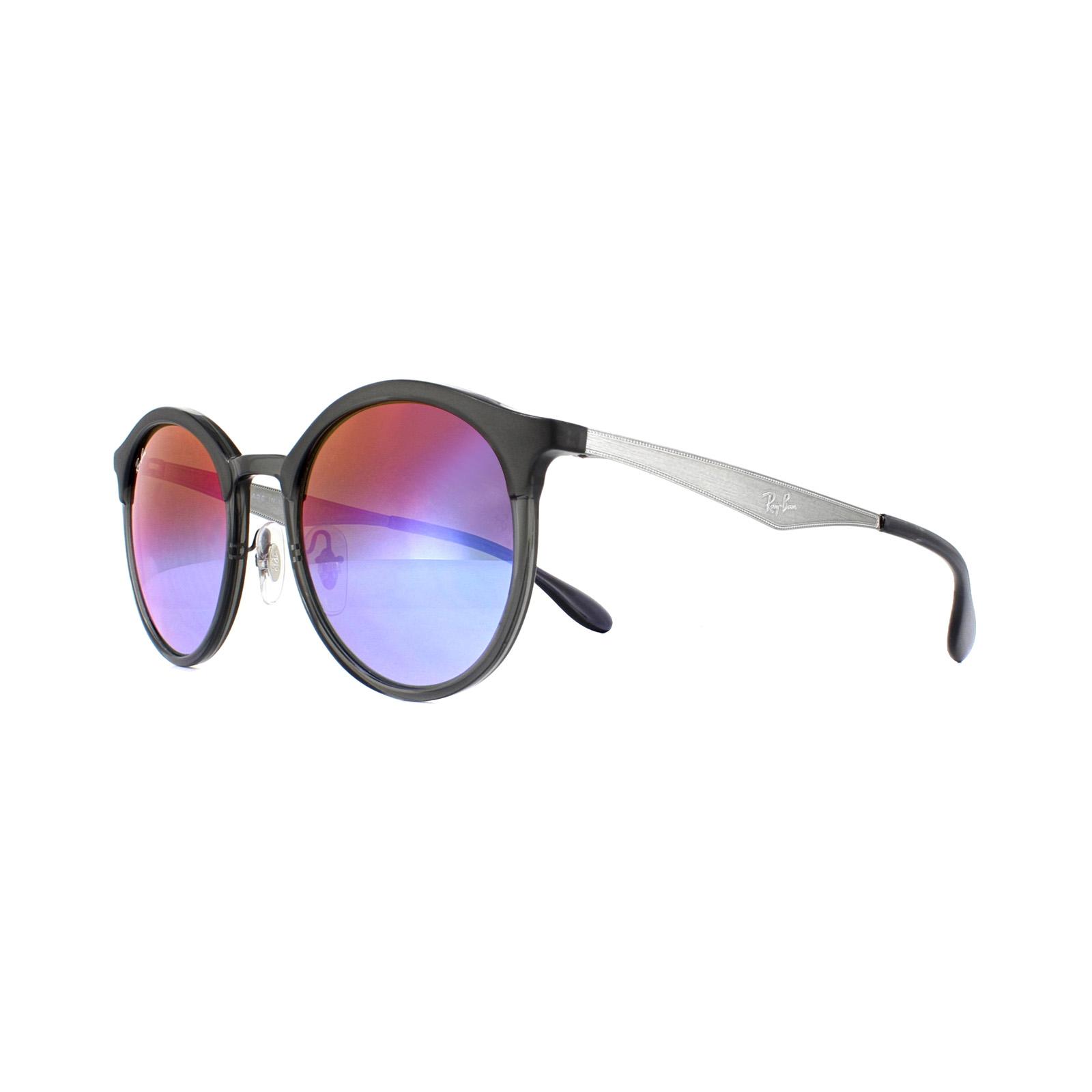 a5b4d8f028d Sentinel Ray-Ban Sunglasses Emma RB4277 6324B1 Grey Gunmetal Blue Violet  Gradient Mirror
