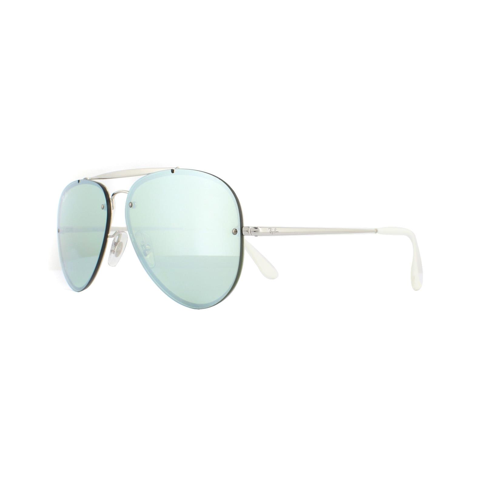 dda0f02fa Sentinel Ray-Ban Sunglasses Blaze Aviator 3584N 905130 Silver Dark Green  Silver Mirror