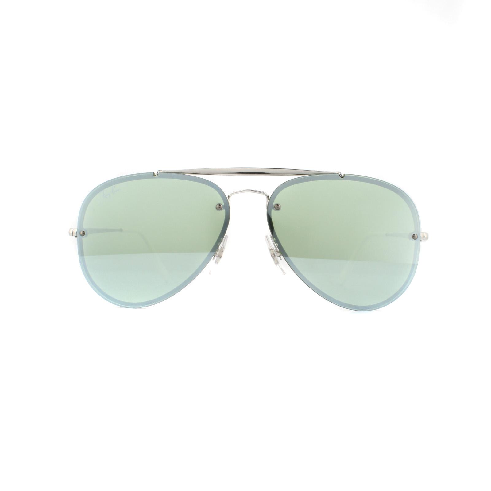 e31ef365c7 Sentinel Ray-Ban Sunglasses Blaze Aviator 3584N 905130 Silver Dark Green  Silver Mirror