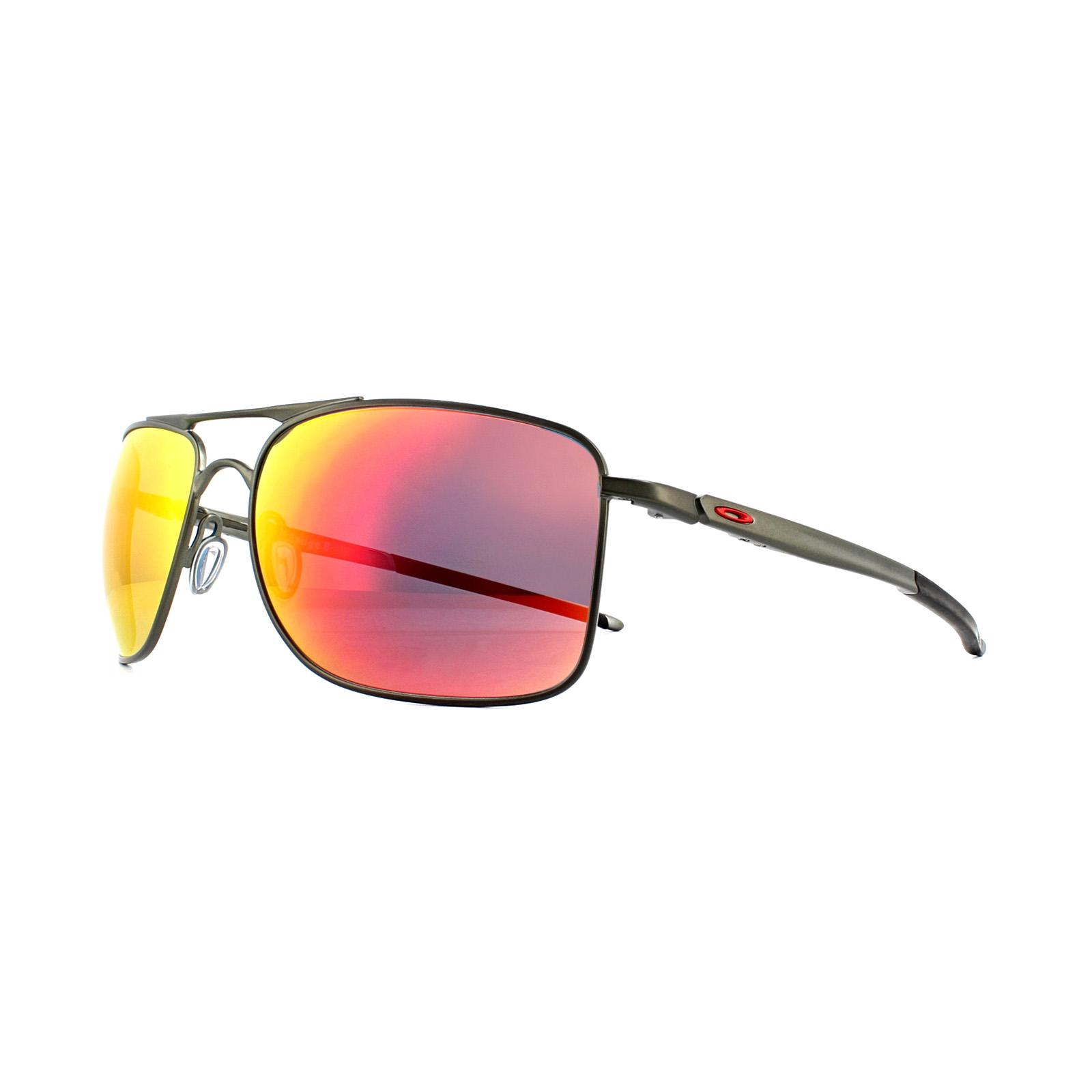 c38abce7b0b2b Sentinel Oakley Sunglasses Gauge 8 L OO4124-03-62 Matt Carbon Ruby Iridium