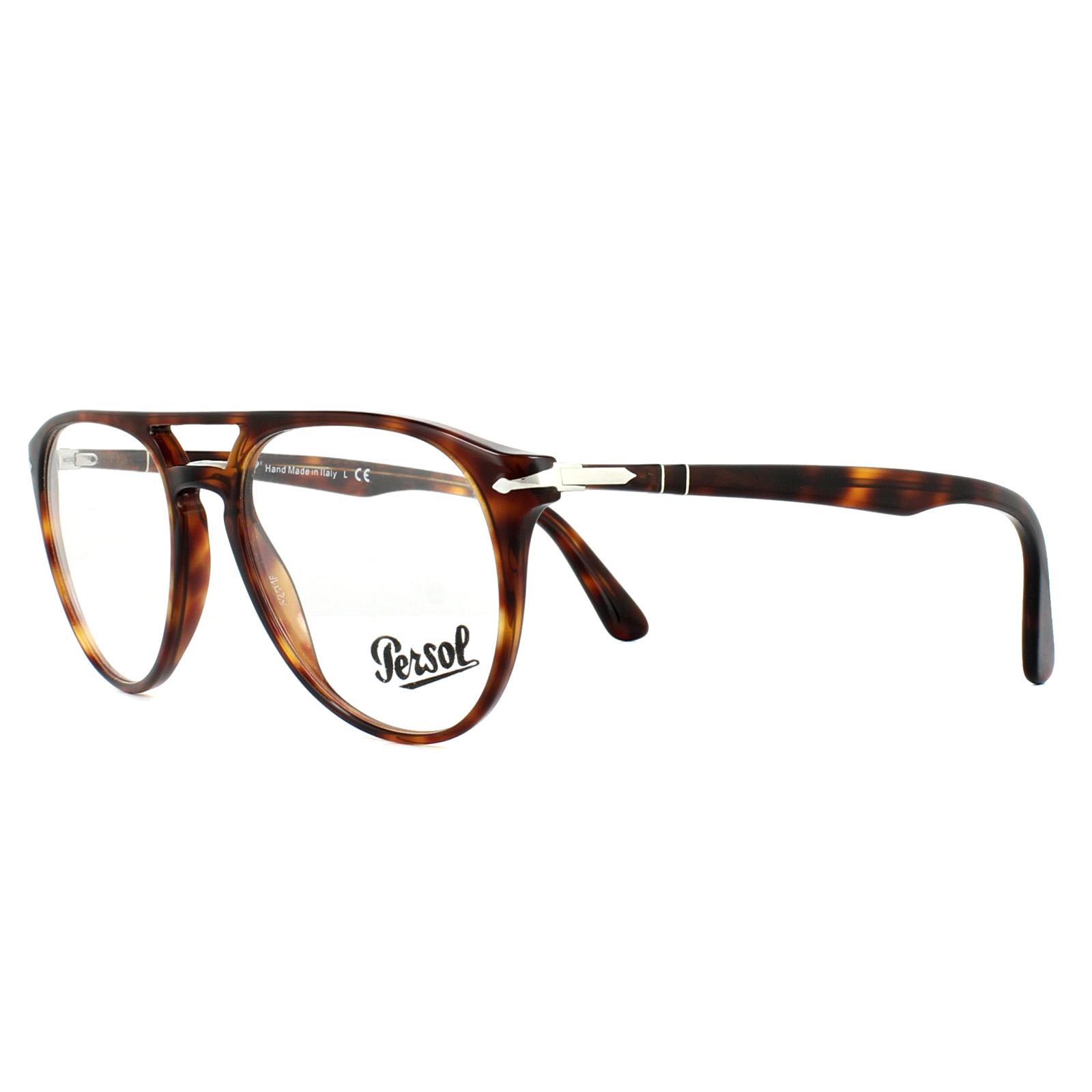 0d4274dfaab Persol Glasses Frames PO3160V 9015 Havana 52mm Mens 8053672653694