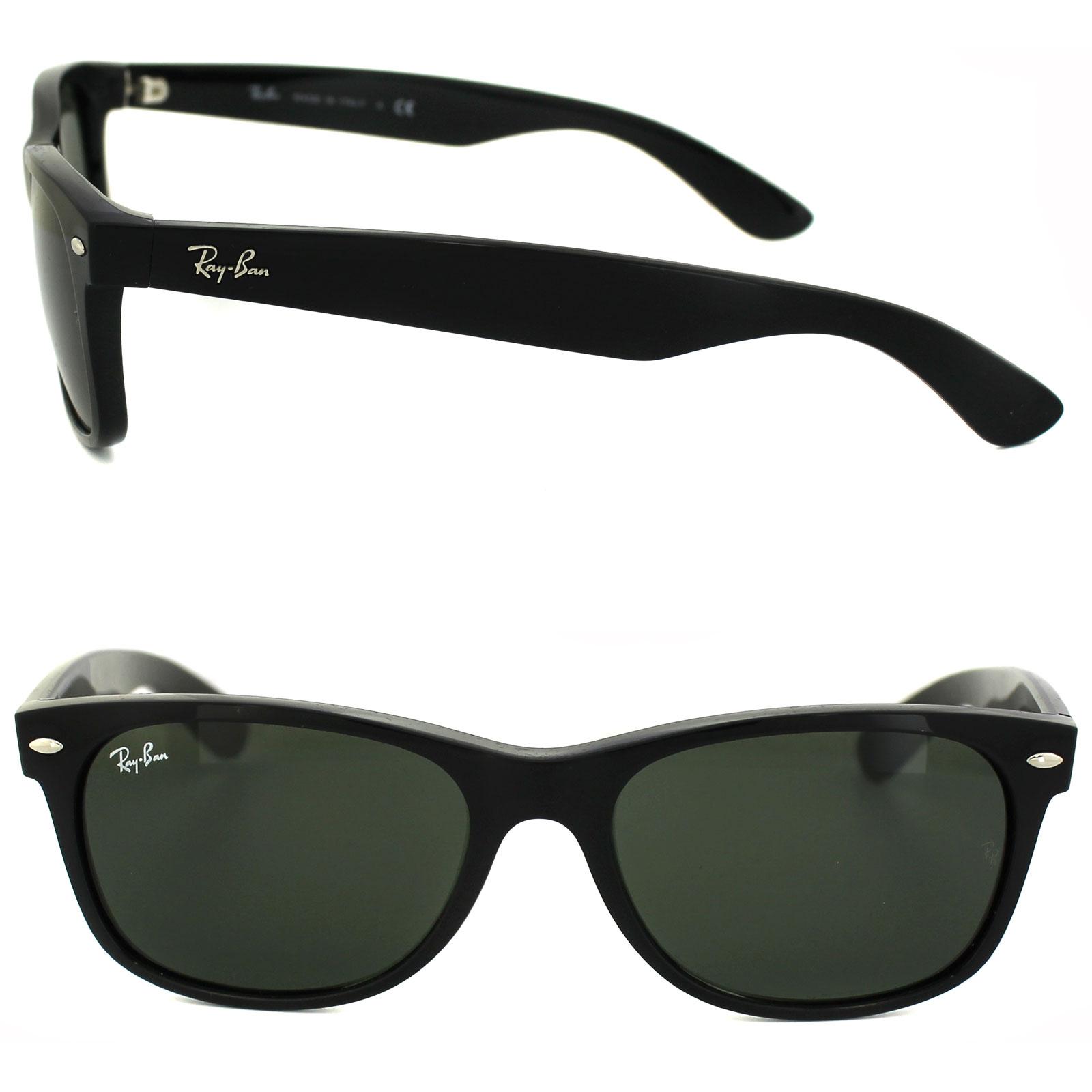 236dc8f0ea9b4 Sentinel Ray-Ban Sunglasses New Wayfarer 2132 901L Black Green G-15 Medium