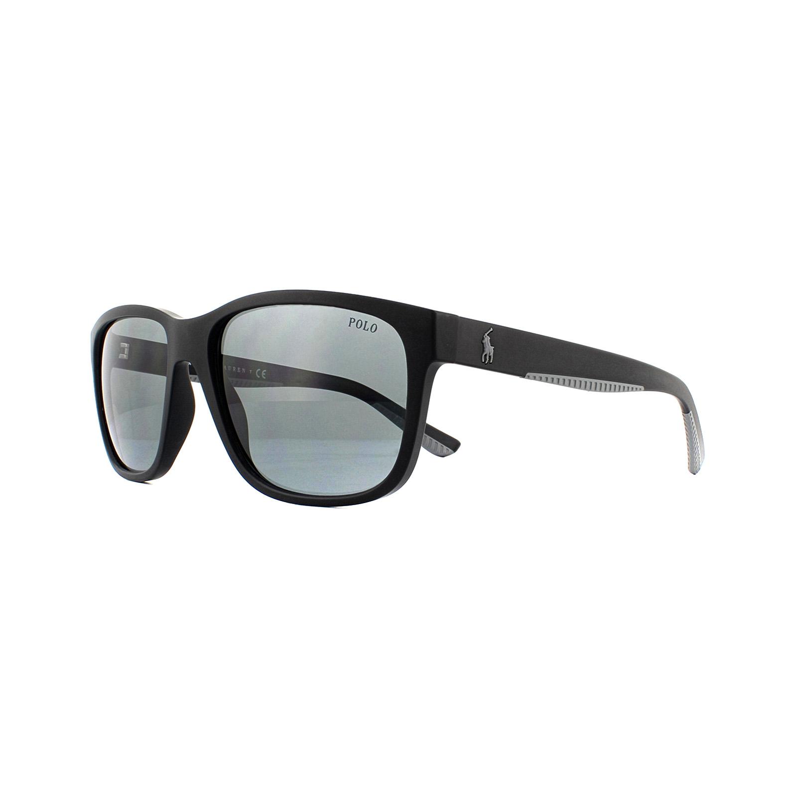 91e1cf082 Sentinel Polo Ralph Lauren Sunglasses PH4142 528487 Matte Black Grey