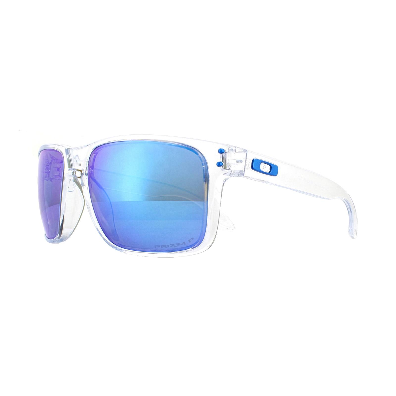 aef77a7da868 Sentinel Oakley Sunglasses Holbrook XL OO9417-07 Polished Clear Prizm  Sapphire Polarized