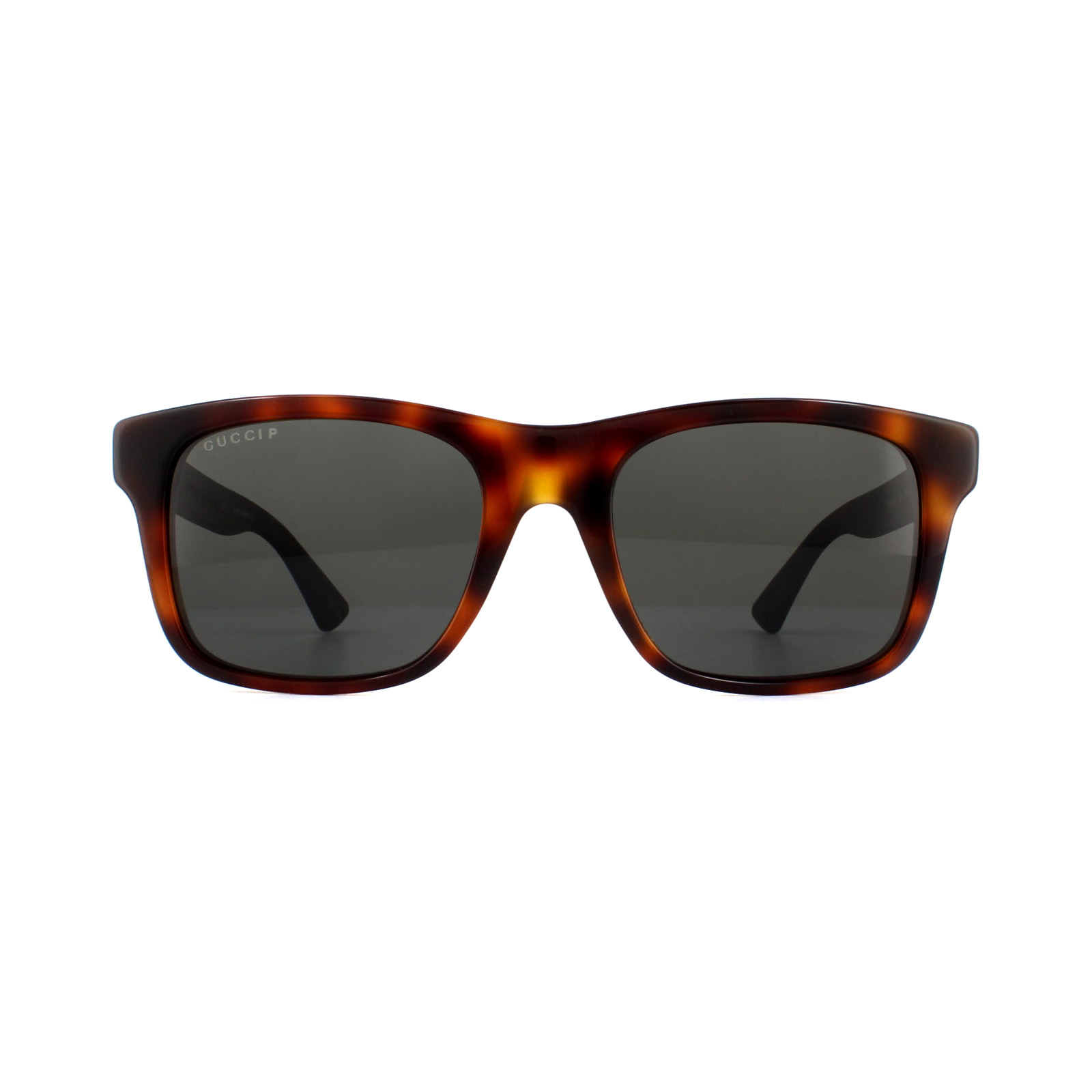 9b4b1064e5426 Sentinel Gucci Sunglasses GG0008S 006 Havana Black Rubber Grey Polarized