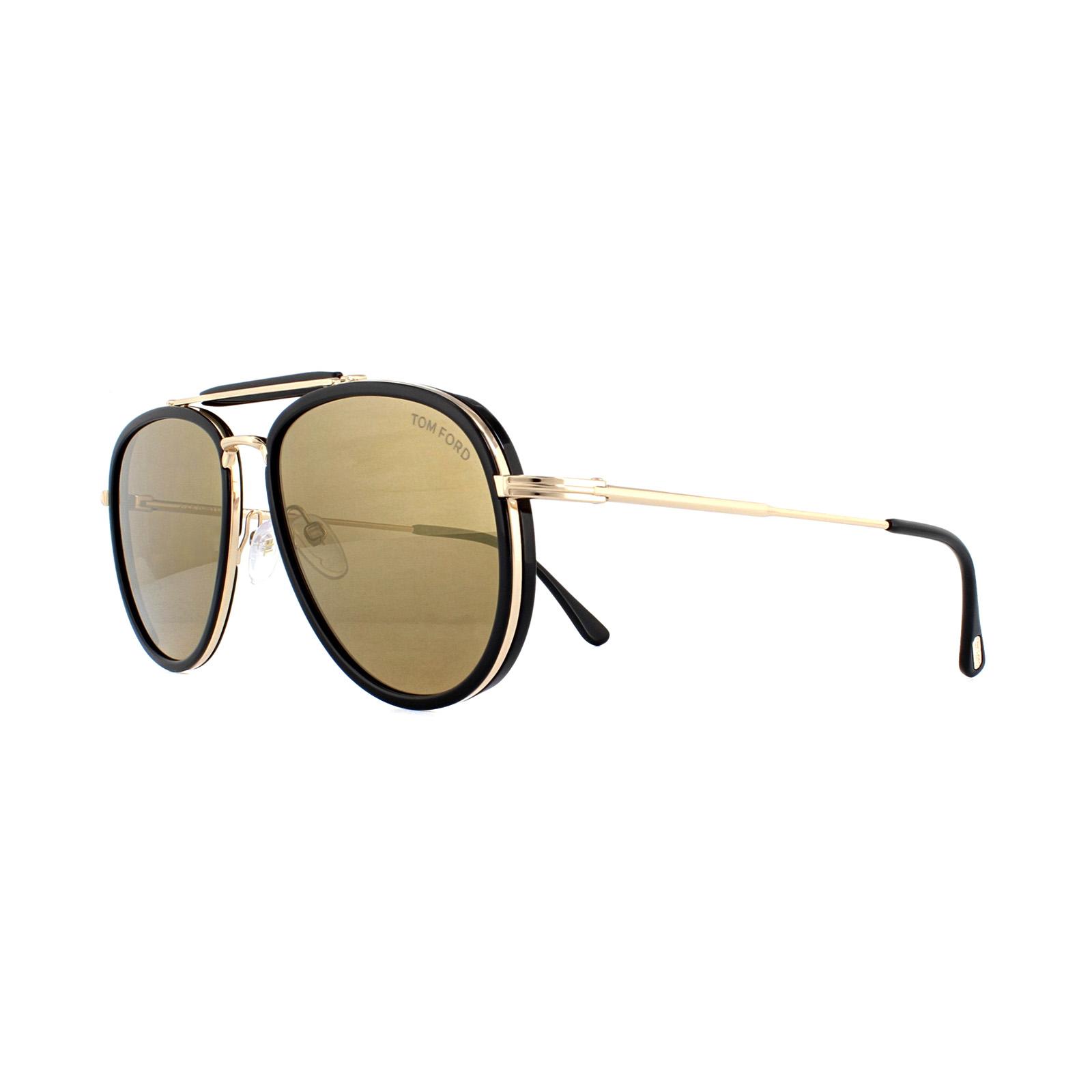 5ca87a35a41a6 Sentinel Tom Ford Sunglasses Tripp 0666 01G Shiny Black Brown Mirror