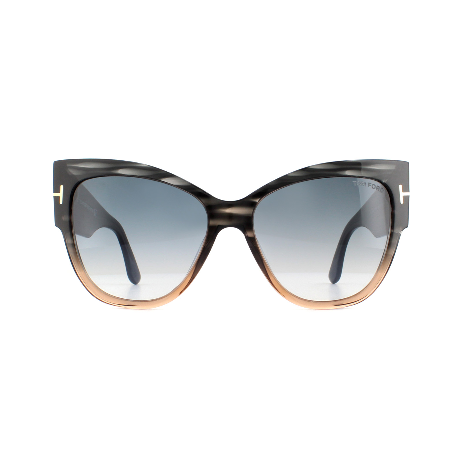 d97dbc24ef Sentinel Tom Ford Sunglasses Anoushka 0371 20B Grey and Brown Crystal Grey  Blue Gradient