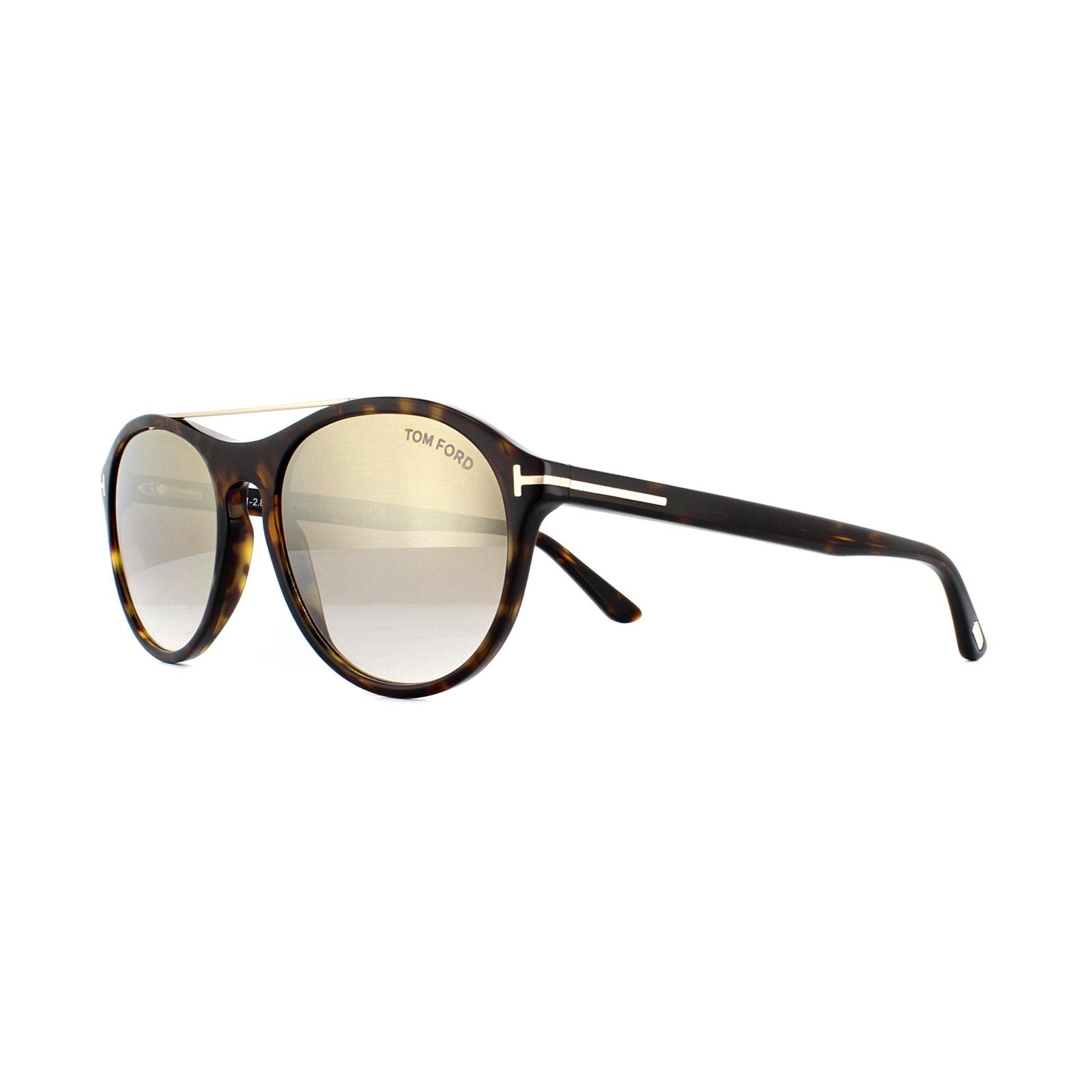 e63a635e2e Sentinel Tom Ford Sunglasses Cameron 0556 52G Dark Havana Brown Gradient w  Gold Mirror