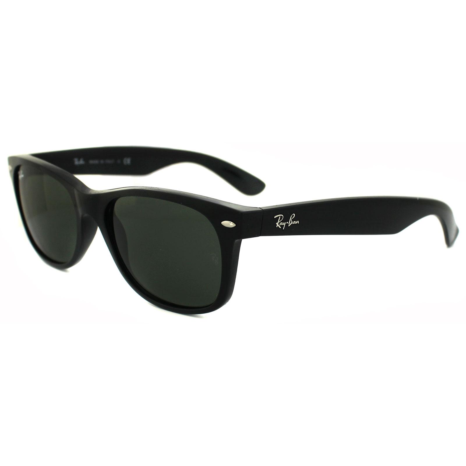 aa7f52a23f9 Sentinel Ray-Ban Sunglasses New Wayfarer 2132 901L Black Green G-15 Medium