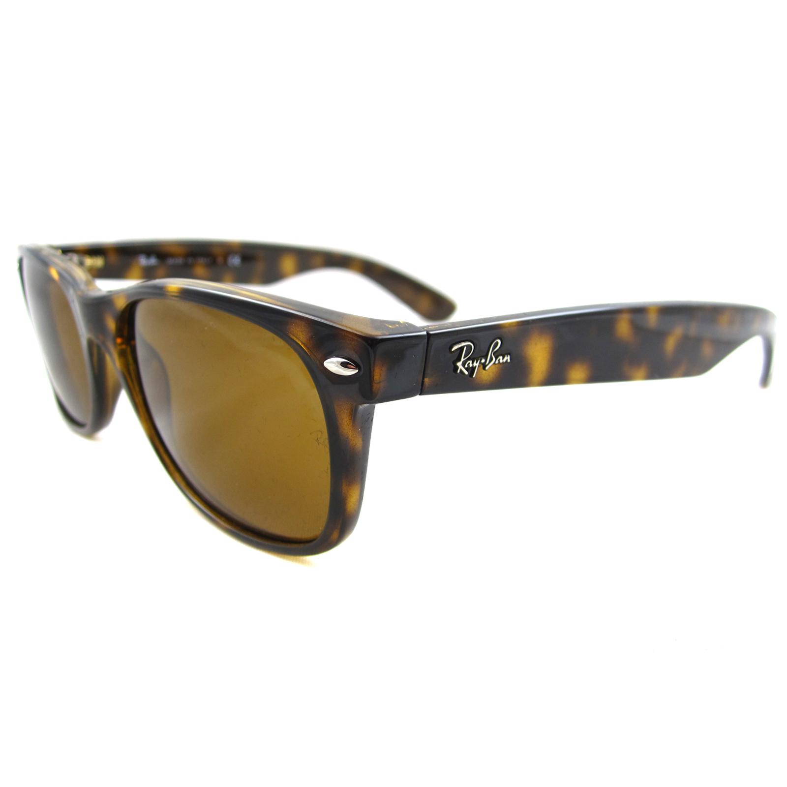 Sentinel Rayban Sunglasses New Wayfarer 2132 710 Light Havana Brown 52mm