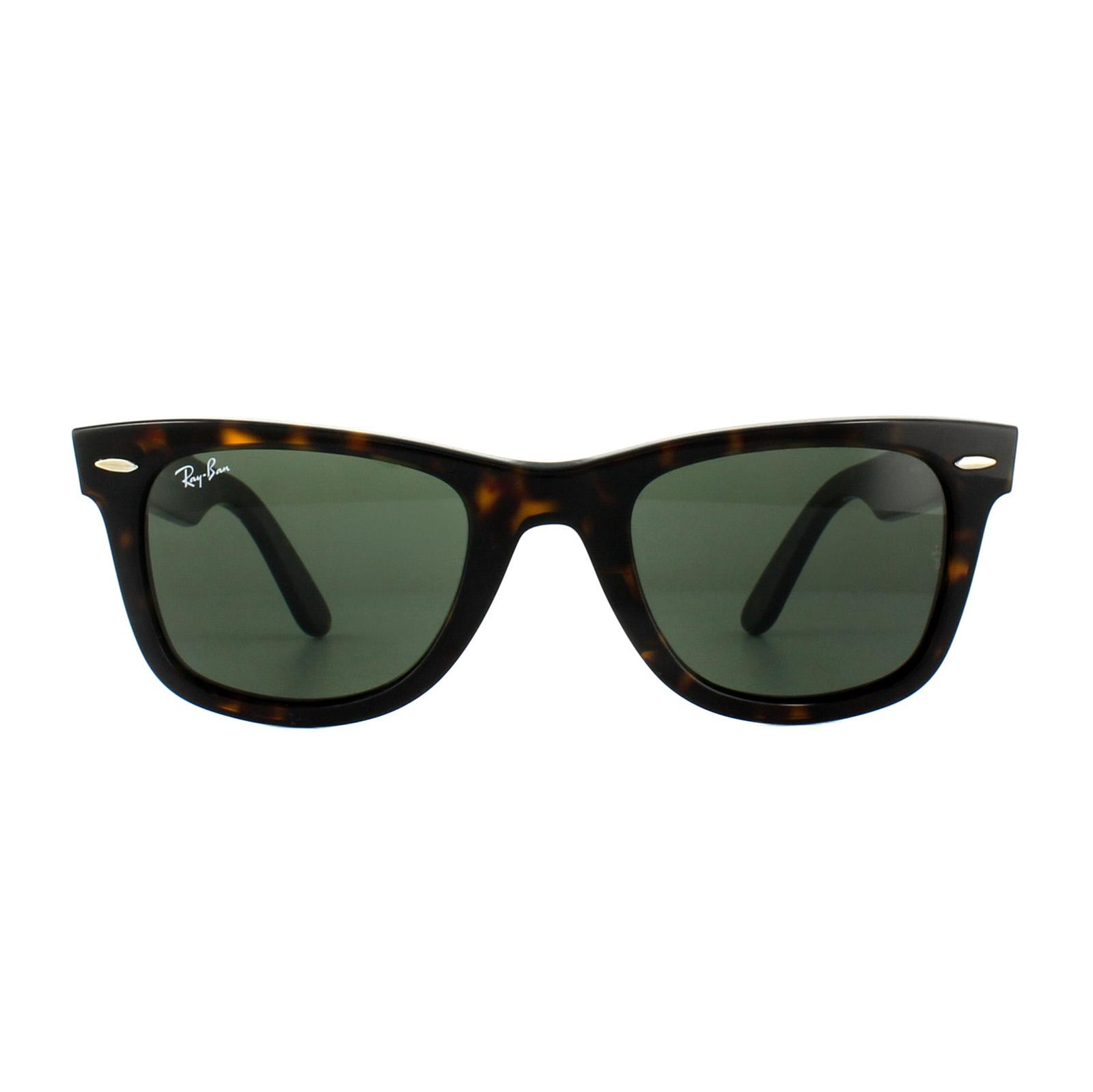 de088c66b0a ... Ray-Ban Sunglasses Wayfarer 2140 902 Tortoise Green G-15 Medium 50mm  Thumbnail 2 ...