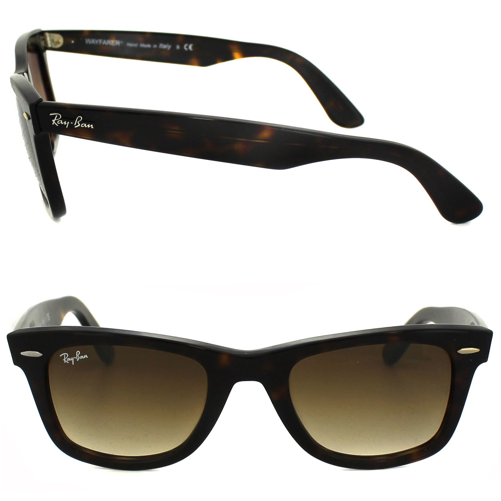 Sentinel Ray-Ban Sunglasses Wayfarer 2140 902 51 Havana Brown Gradient  Medium 50mm 0c7eb93f61e0