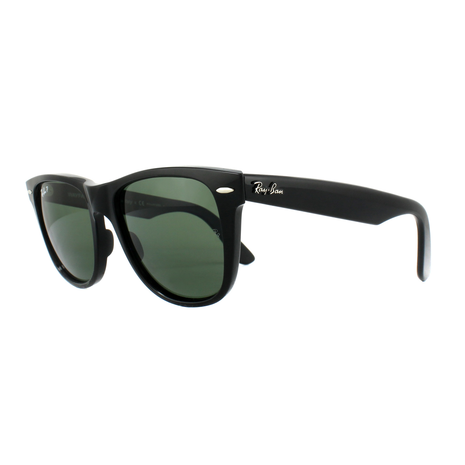 Sentinel Ray-Ban Sunglasses Wayfarer 2140 901 58 Black Green G-15 Polarized  Medium f3e2ab9c1a