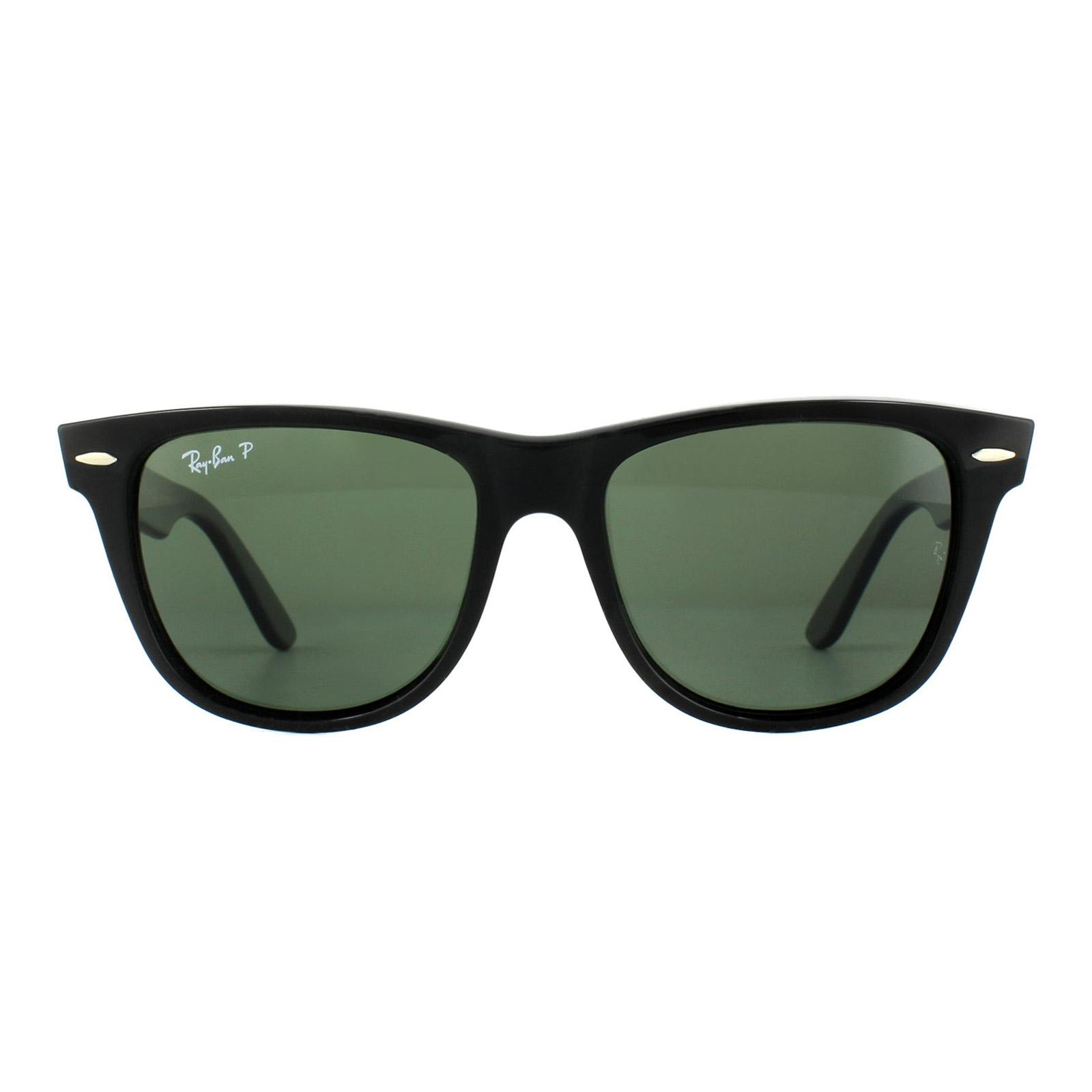 Sentinel Ray-Ban Sunglasses Wayfarer 2140 901 58 Black Green G-15 Polarized  Medium f3e2ab9c1a