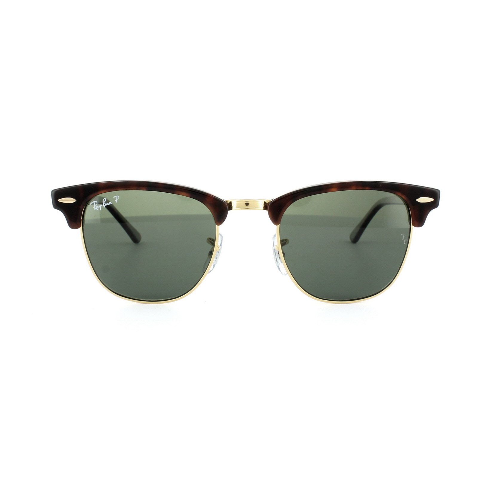 a3dfc04551 ... Ray-Ban Sunglasses Clubmaster 3016 990 58 Red Havana Green Polarized  Small 49mm Thumbnail ...