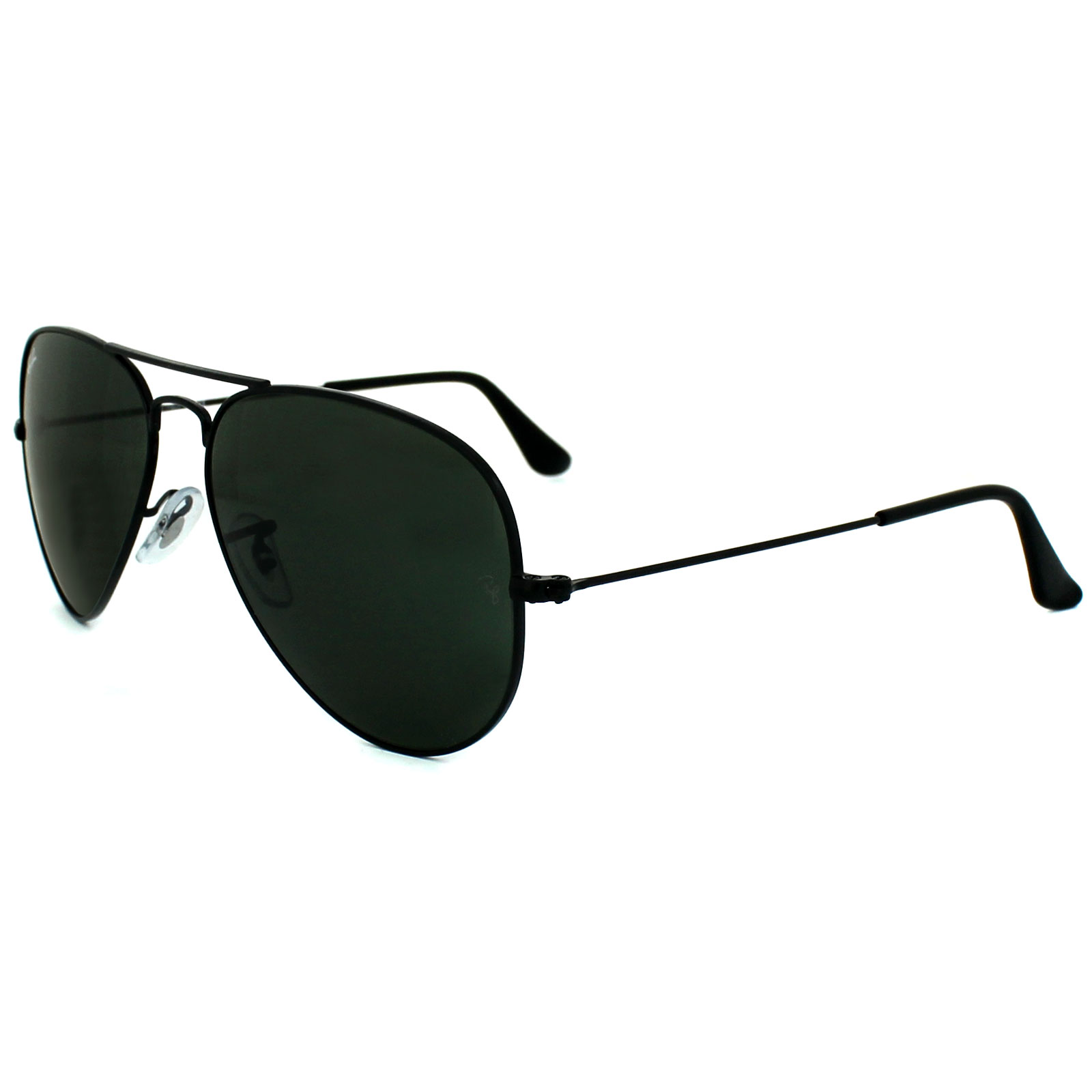 179a296e5c Sentinel Ray-Ban Sunglasses Aviator 3025 L2823 Black Green G-15 Medium 58mm
