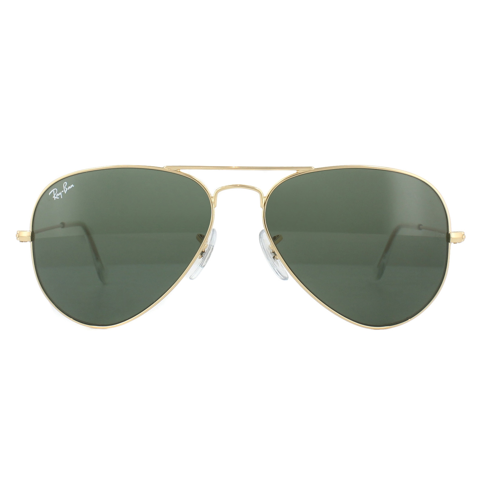 eb36cdd5f352a Sentinel Ray-Ban Sunglasses Aviator 3025 W3234 Gold Green G-15 Small 55mm