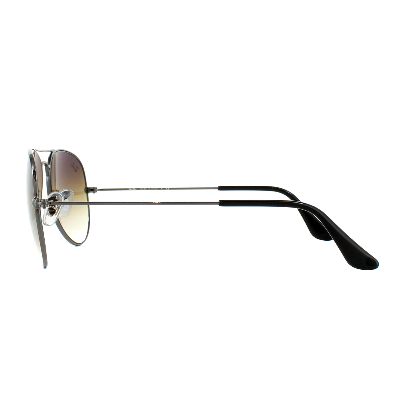 2150e1d40ebebc Sentinel Ray-Ban Sunglasses Aviator 3025 004 51 Gunmetal Brown Small 55mm