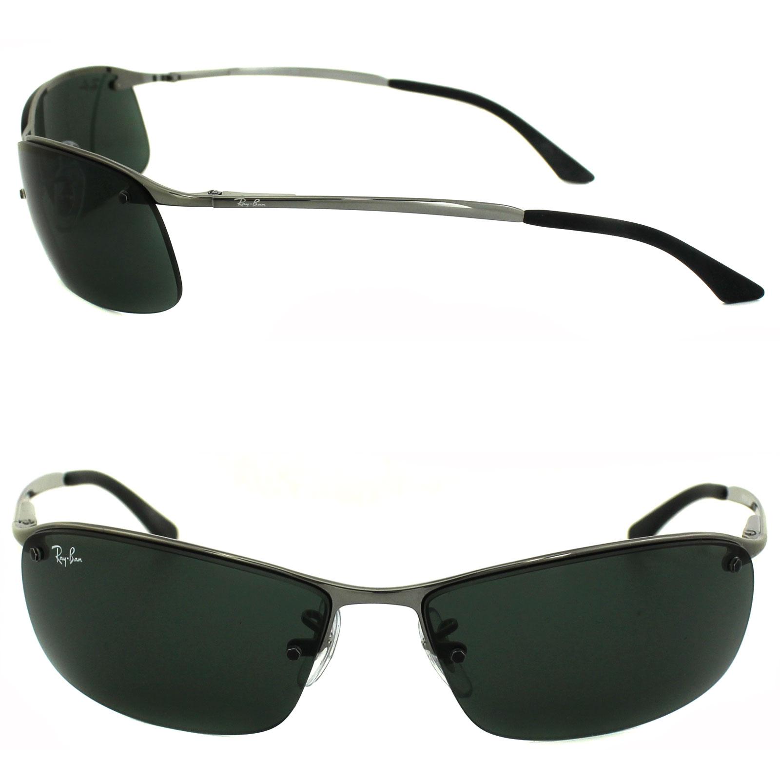 8c9bbb8e59fd Rayban Sunglasses 3183 004 71 Gunmetal Green 805289018919