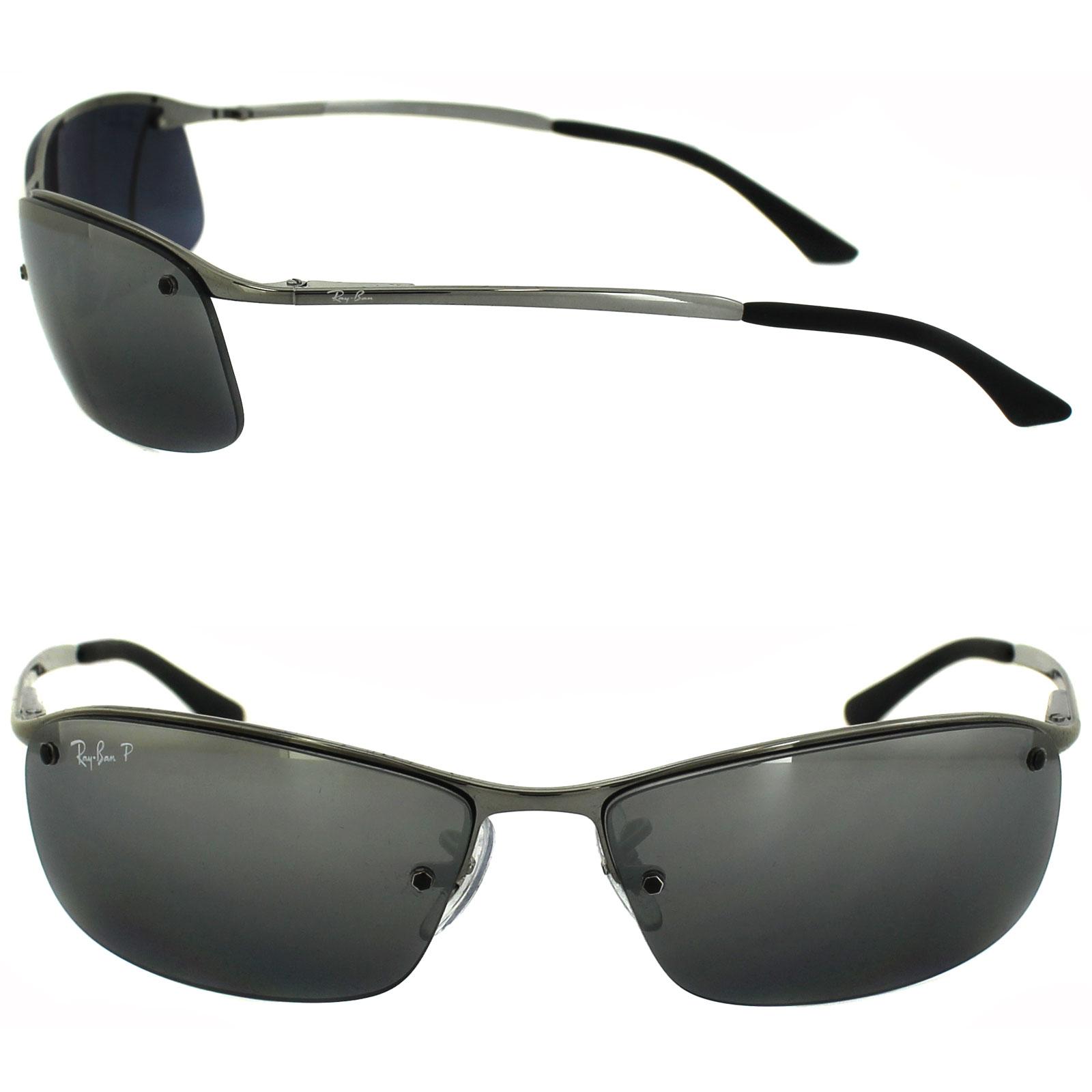 df843b918e89 ... discount sentinel ray ban sunglasses 3183 004 82 gunmetal silver mirror  polarized 1dc0e a77d2