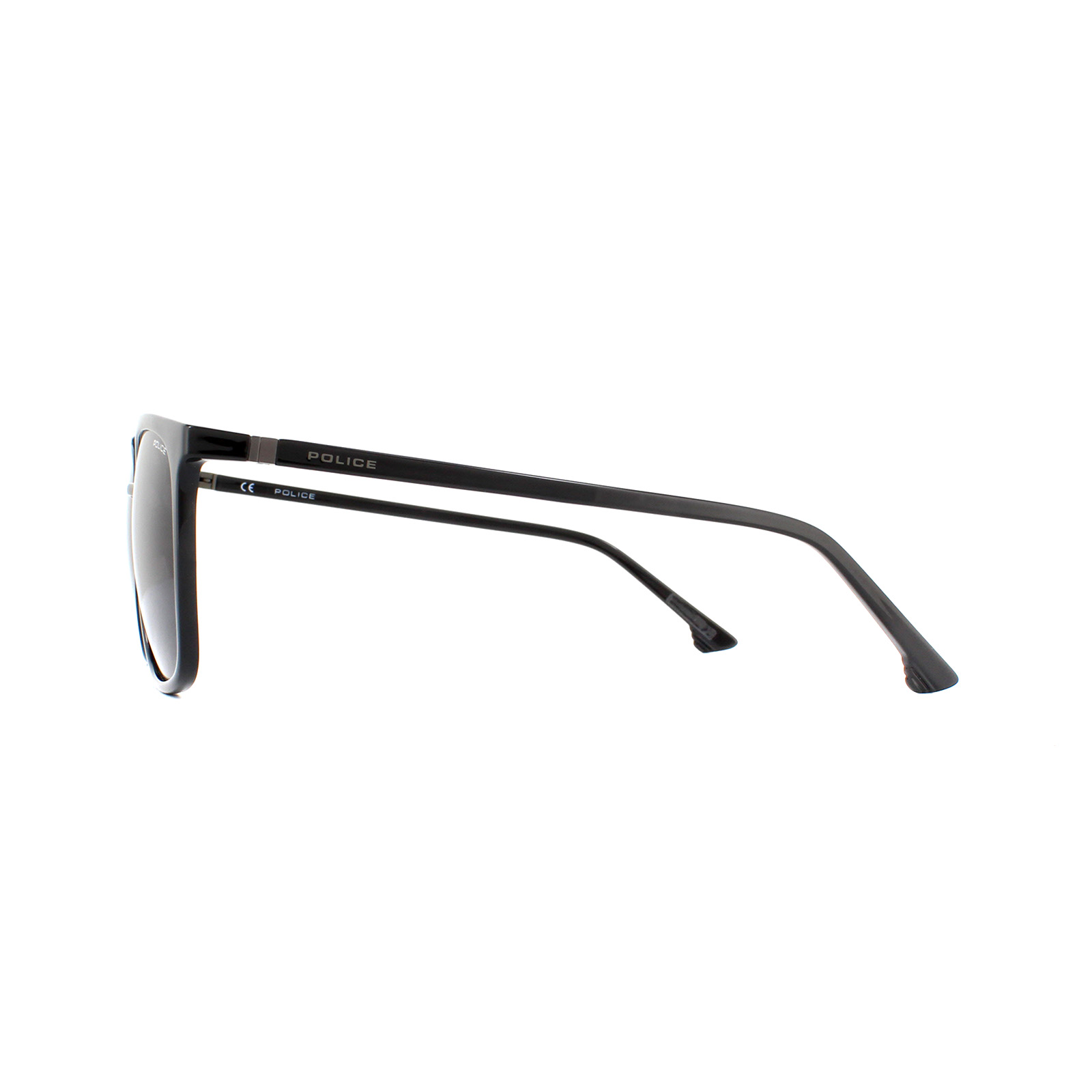 Police Sunglasses SPL342M Jungle 1 0Z42 Shiny Black Smoke Grey