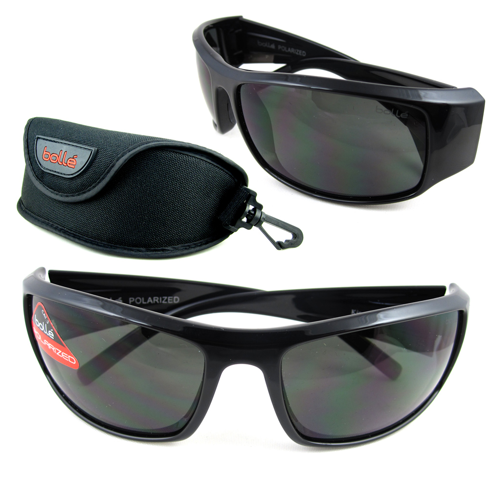908cdf7058 Details about New Bolle Sunglasses King Black Polarized 10997