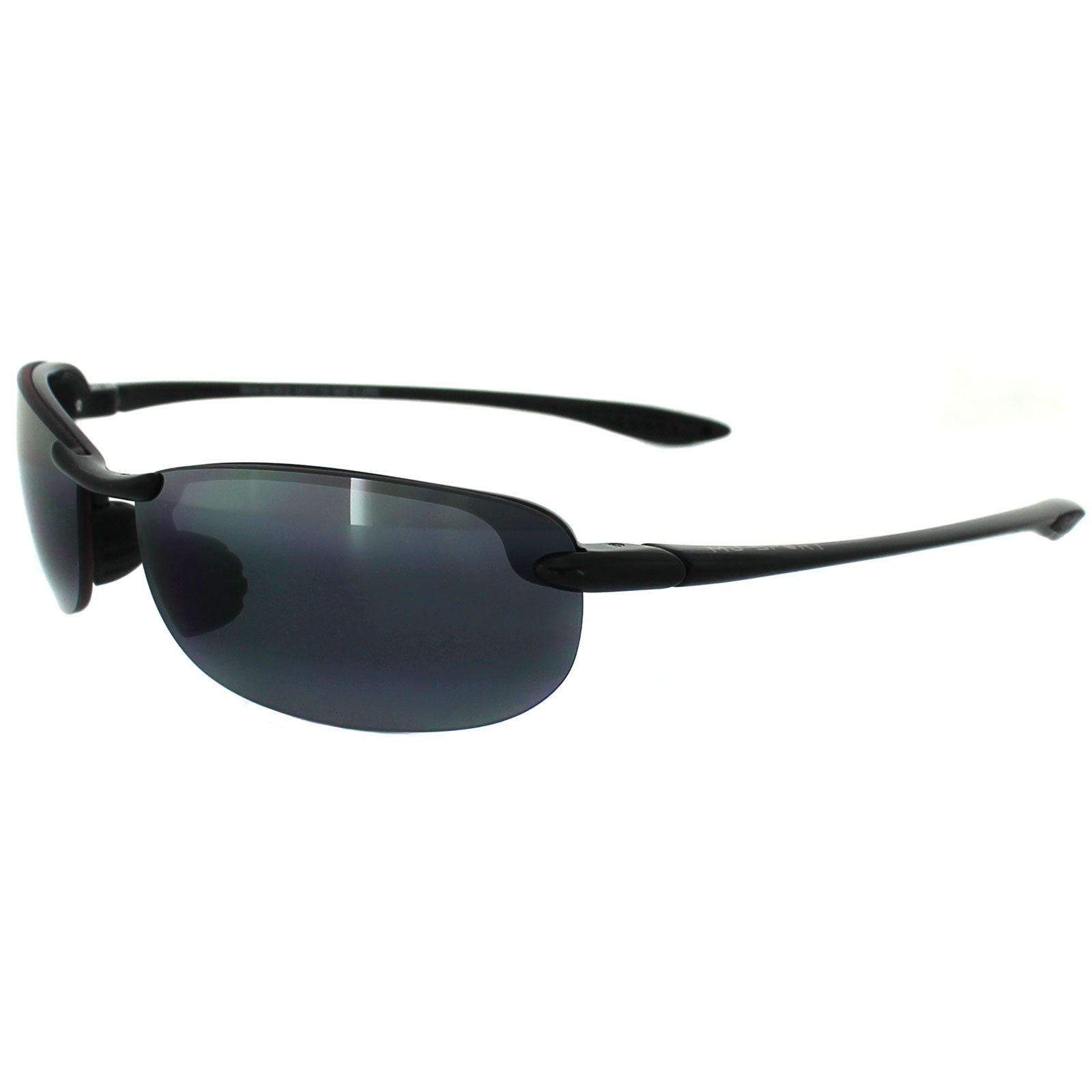 08b74e60f933 Maui Jim Sunglasses Makaha 405-02 Gloss Black Grey Polarized Thumbnail 1 ...