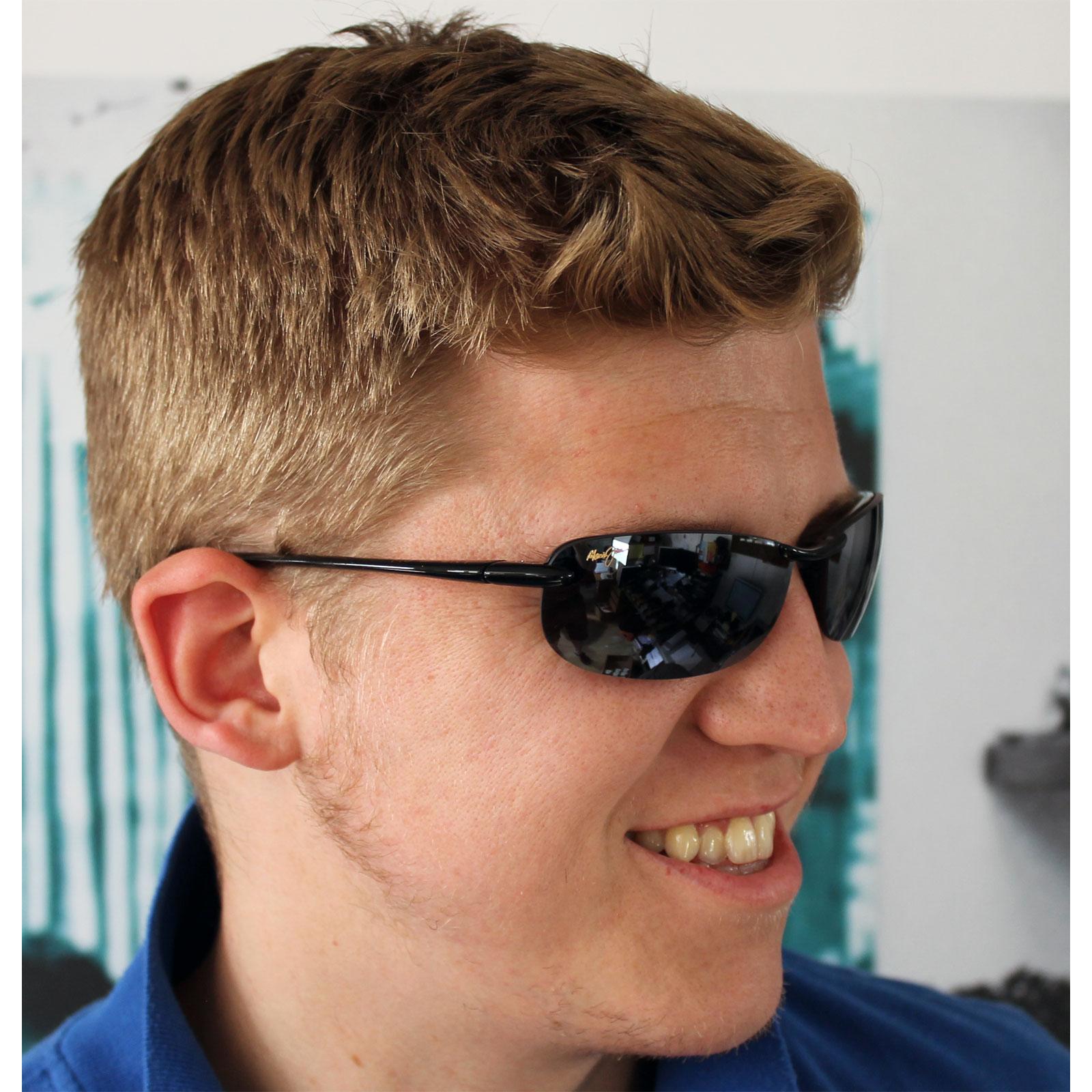 0df50476566f4 ... Maui Jim Sunglasses Makaha 405-02 Gloss Black Grey Polarized Thumbnail  3 ...