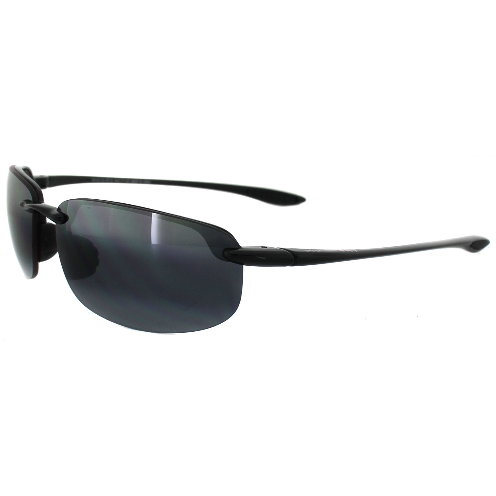 4e00d706108 Sentinel Maui Jim Sunglasses Hookipa 407-02 Gloss Black Grey Polarized