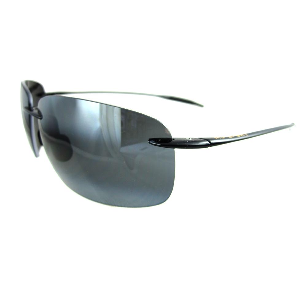 6f285a51dd08 Maui Jim Sunglasses Breakwall 422-02 Gloss Black Grey 603429015534 ...