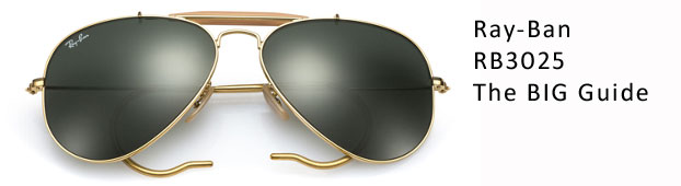 Ray ban rb3025 aviator sunglasses guide size guide discounted