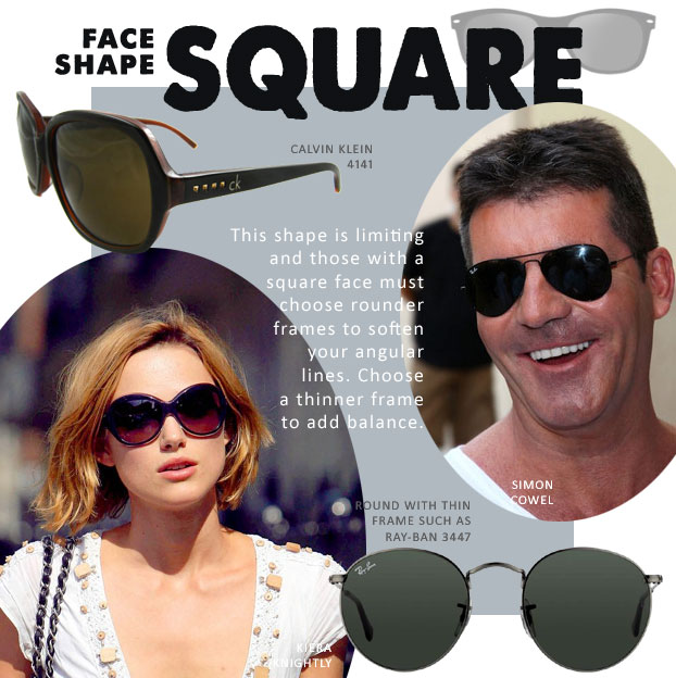 Sunglasses for square face shape