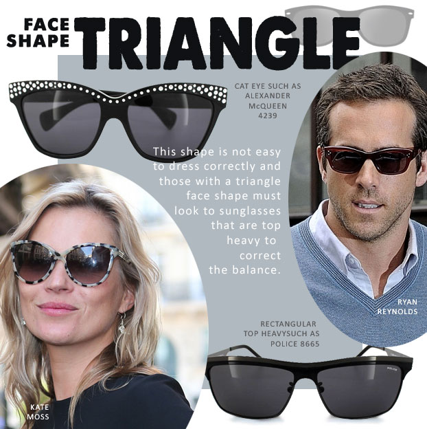Sunglasses for triangle face shape