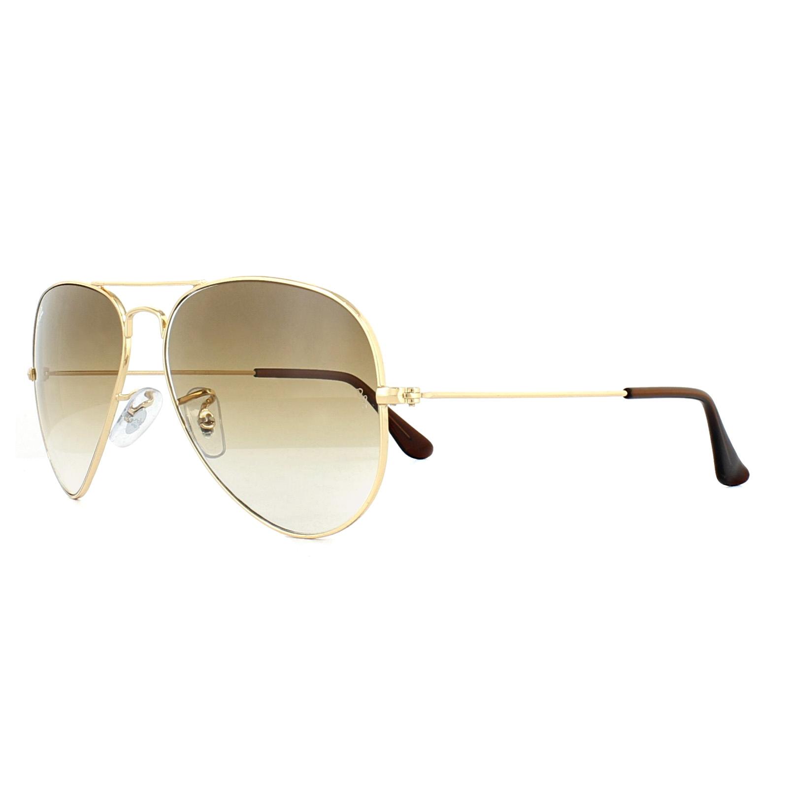 47641742e328f Sentinel Ray-Ban Sunglasses Aviator 3025 001 51 Gold Brown Gradient Medium  58mm