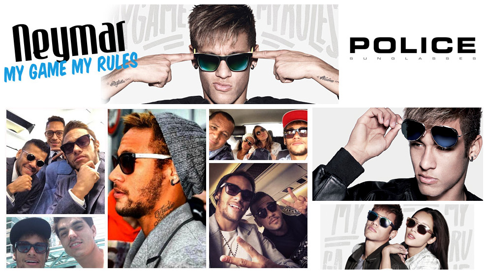 FOOTBALL Brazilian superstar Naymar Jr is the new face of Police sunglasses