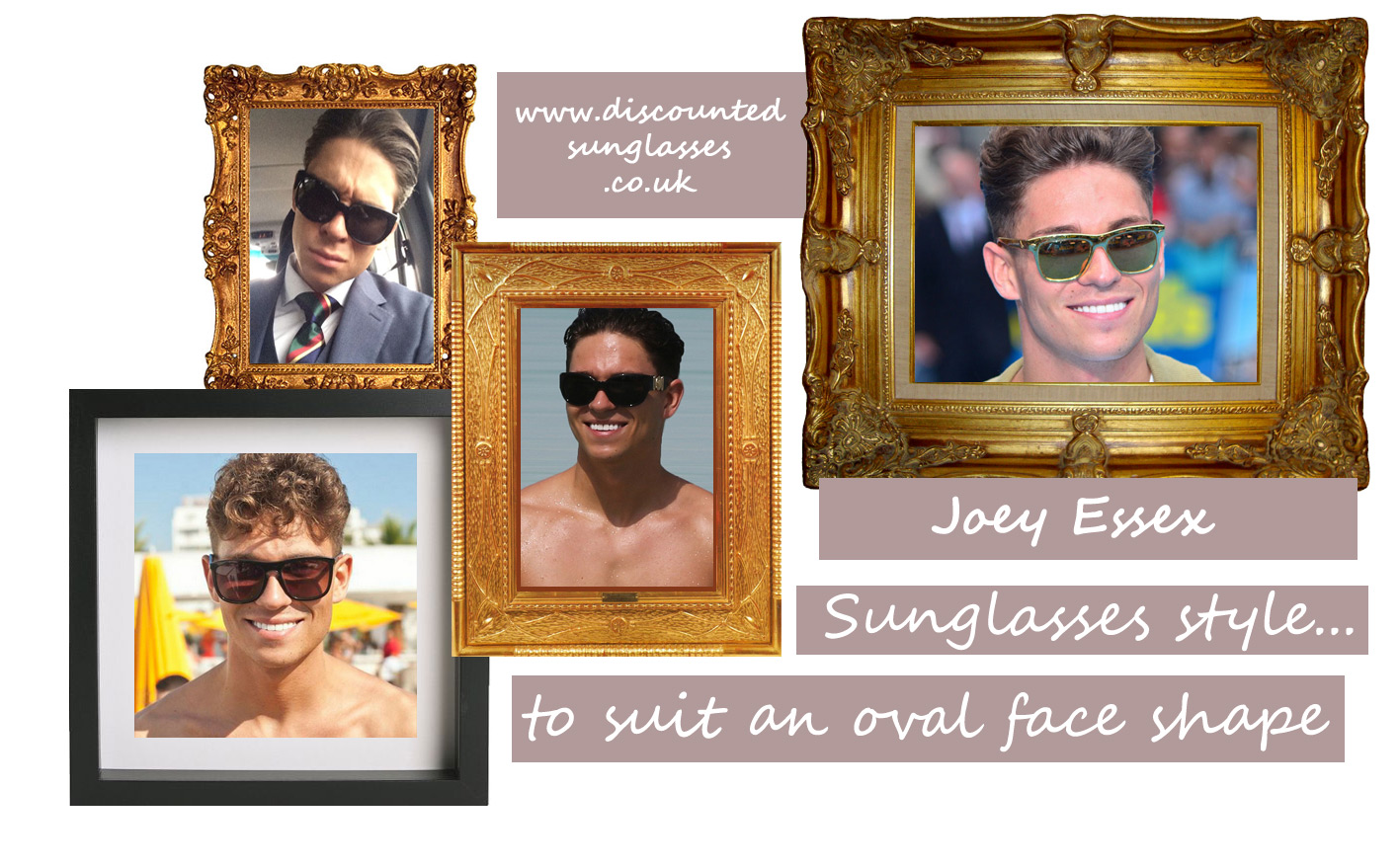 JOEY ESSEX SUNGLASSES a focal point as he films his new TV program
