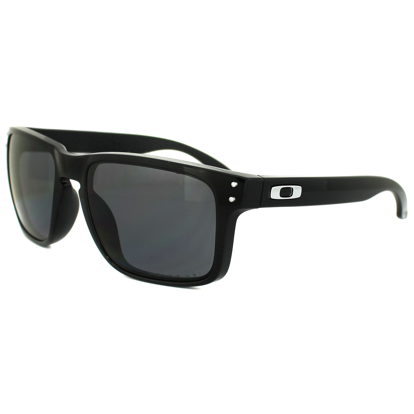 27db230a7c3ee Sentinel Oakley Sunglasses Holbrook Polished Black Grey Polarized OO9102-02