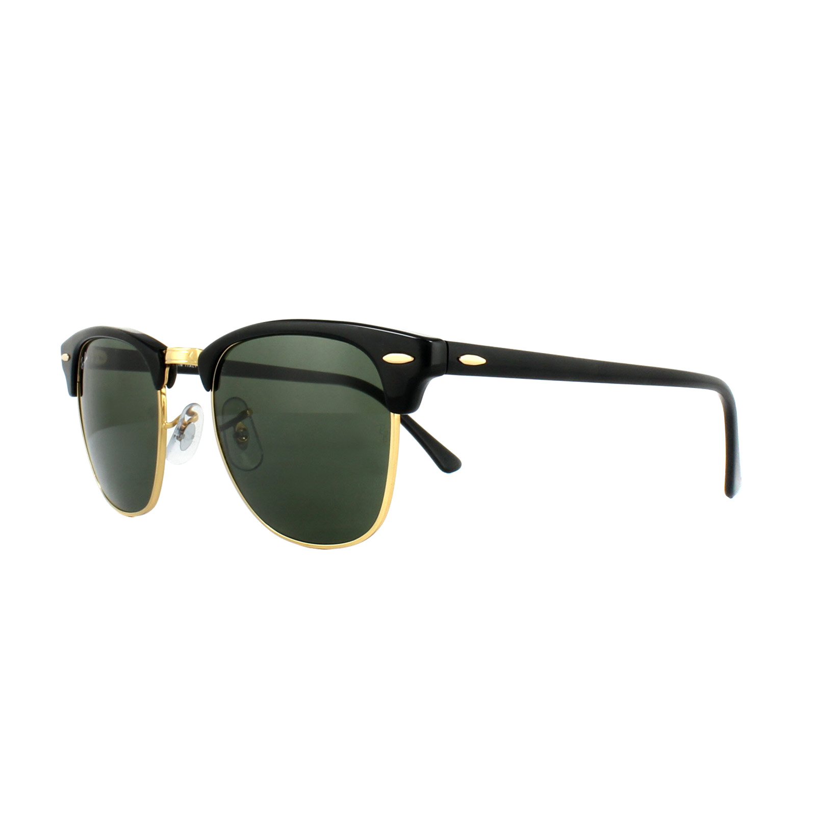 27151b48d3 Sentinel Ray-Ban Sunglasses Clubmaster 3016 W0365 Black Green G-15 Large  51mm