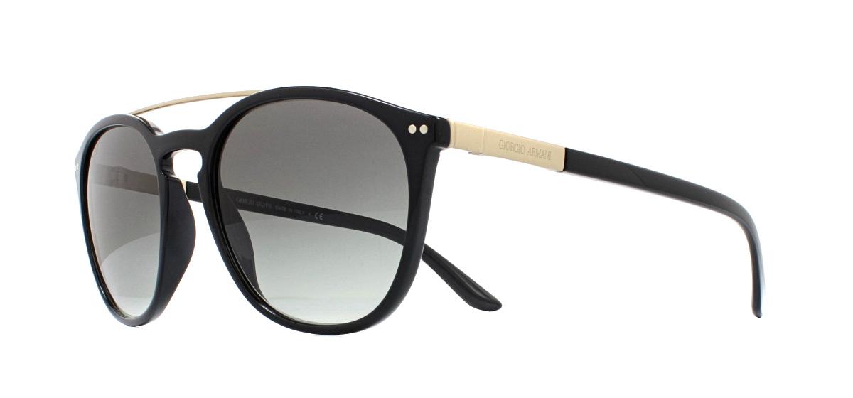 7cecd281184 Sentinel Giorgio Armani AR8088 Sunglasses Black 501711 Grey Gradient 53mm