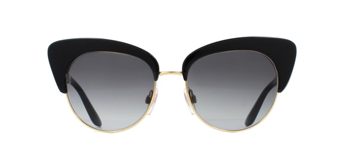 2b9ed9f0893 Sentinel Dolce   Gabbana DG4277 Sunglasses Black and Gold 501 8G Grey 52mm